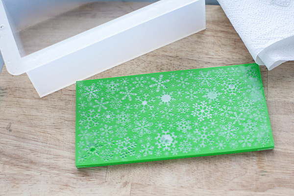 Лист текстурный для мыла Снежинки