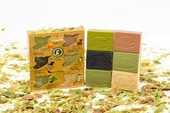 Набор мыла в  картонной подарочной коробке с картой Сирии, 6 шт, 630g ТМ Клеопатра