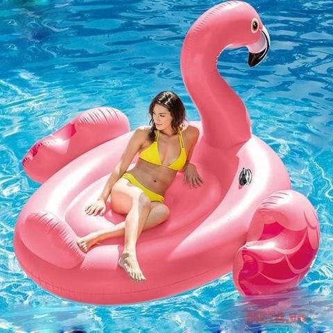 Матрас Розовый Фламинго надувной :1,42*1,37*97см.