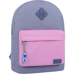 Рюкзак Bagland Молодежный W/R 17 л. серый/розовый (00533662)