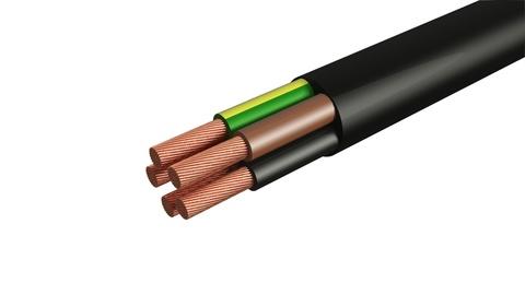 Провод ПВС 5х1 ГОСТ (30м), черный TDM