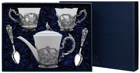 Набор «Королевская охота» с чернением (5 предметов с чайником)
