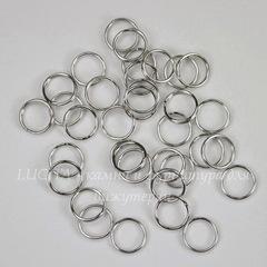 Комплект двойных колечек 7х1,3 мм (цвет - античное серебро), 20 гр (примерно 235 шт)