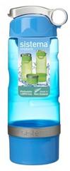 Спортивная питьевая бутылка Sistema Sport Fusion, голубая 615 мл