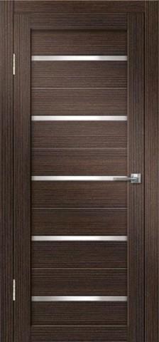 Дверь Дверная Линия Грация-1, стекло снег, цвет венге, остекленная