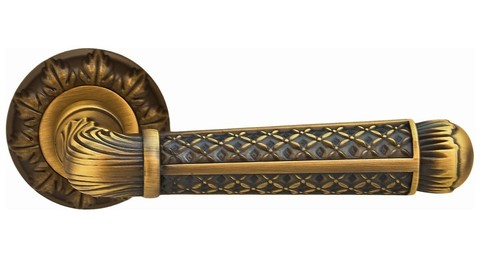 Фурнитура - Ручка Дверная  ONYX Мальта АL (58678), цвет матовая бронза