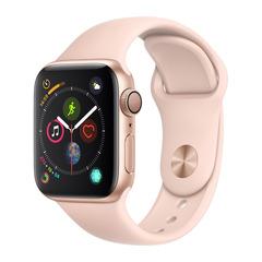Часы смарт Apple Watch Серия 4, 40мм из алюминия золотого цвета, спортивный ремешок цвета «розовый песок»