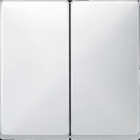 Выключатель двухклавишный. Цвет Полярно-белый. Merten Antique/Artec. MTN3115-0000+MTN412519
