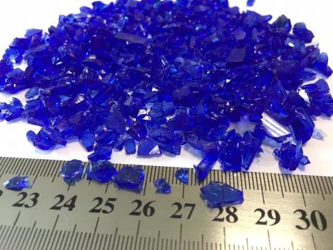 Стеклянная крошка цвет: синий