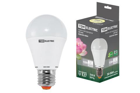 Лампа светодиодная А60 - 12 Вт-220 В -3000 К–E27 TDM