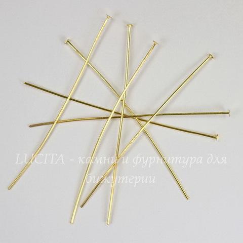 Комплект пинов - гвоздиков 70х0,8 мм (цвет - золото), 40 гр (примерно 130 шт)