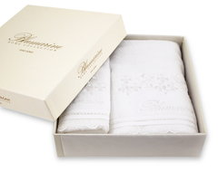 Набор полотенец 2 шт Blumarine Delizia белый