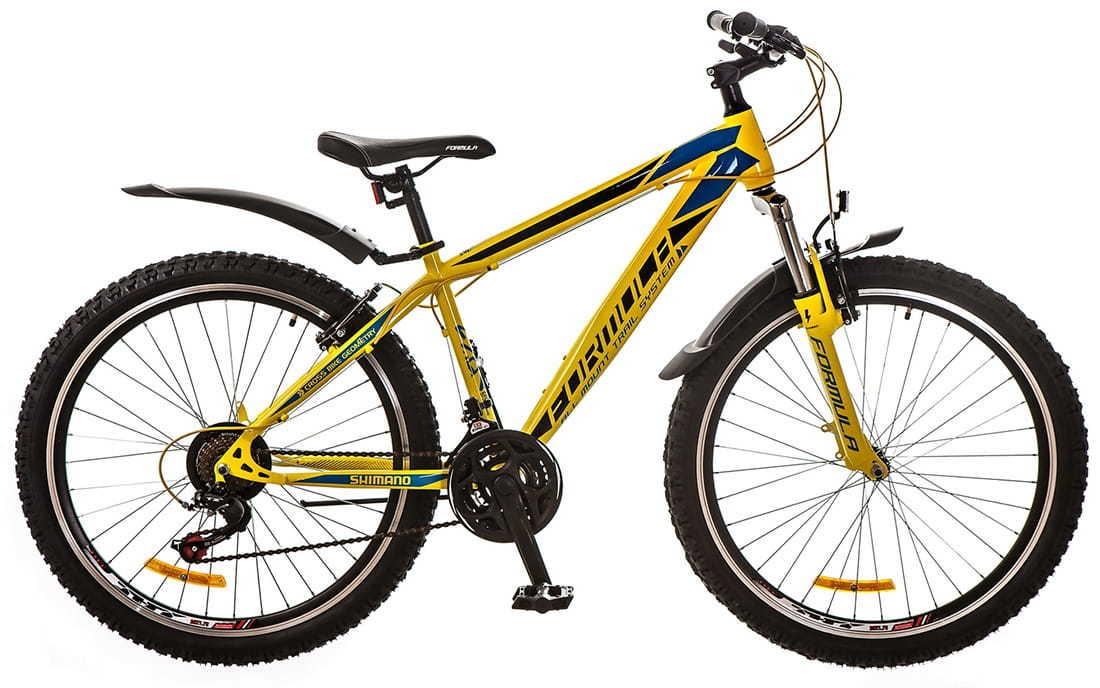 Городской велосипед Formula Nevada Желто-синий