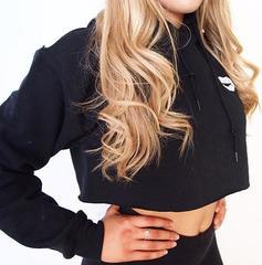 Женская укороченная толстовка Cute Black