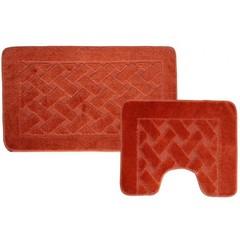Набор ковриков для ванной BANYOLIN 55х90 см ворс, терракот