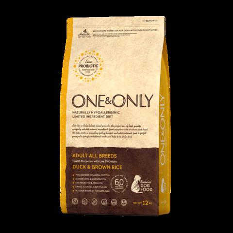 One&Only Duck & Rice Adult All Breeds Сухой корм для взрослых собак всех пород Утка с рисом низкозерновой