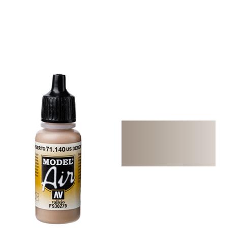 140 Краска Model Air Песок Пустыни (US Desert Sand) укрывистый, 17 мл