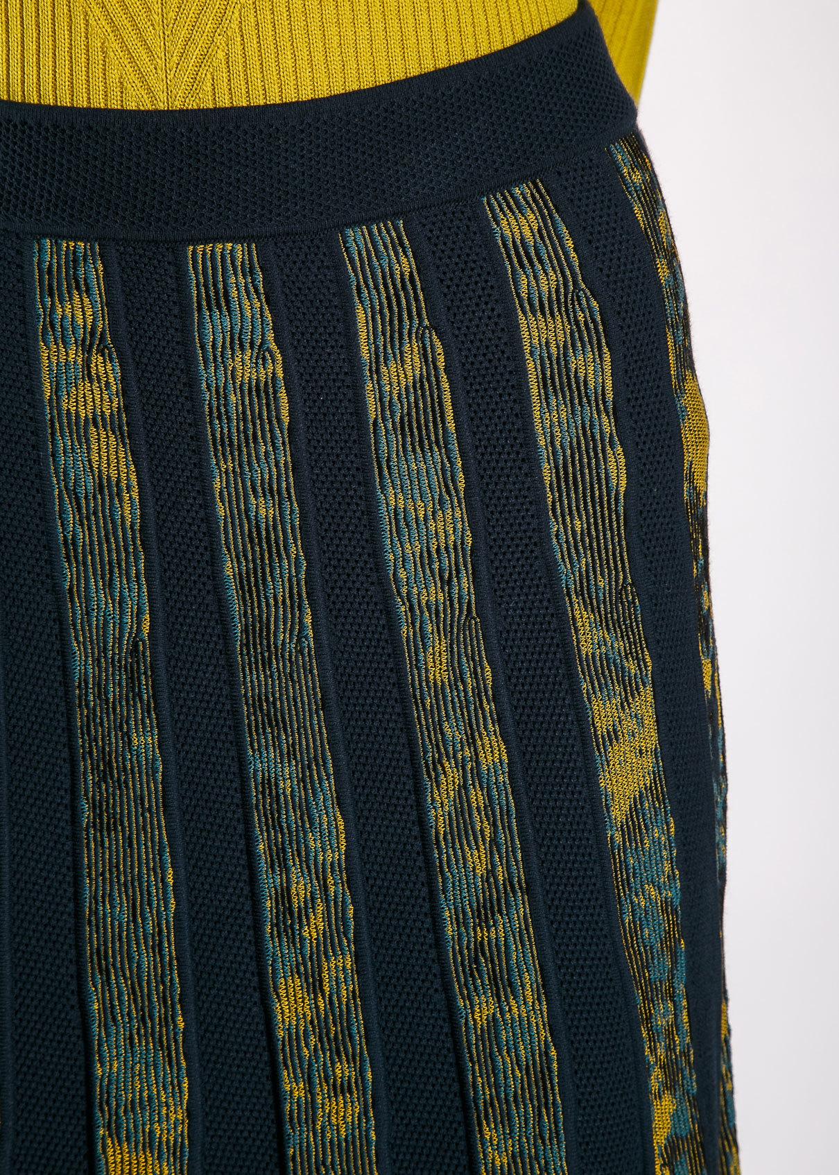 Юбка из вискозы и полиэстера. Цвет синий/изумруд M MISSONI