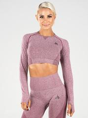 Женский топ Ryderwear Seamless Long Sleeve Crop - Burgundy Marle