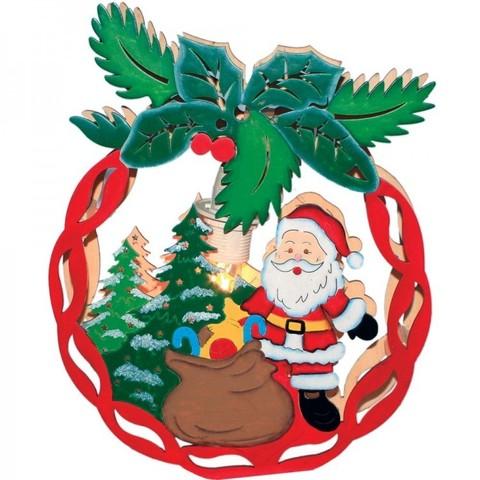 Световая фигура «Деревянный шар с Санта Клаусом», LT084 (Feron)