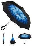 Зонт наоборот Цветок голубой