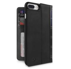 Чехол-книжка Twelve South BookBook для iPhone 8 Plus, 7+, 6S плюс кожа черный