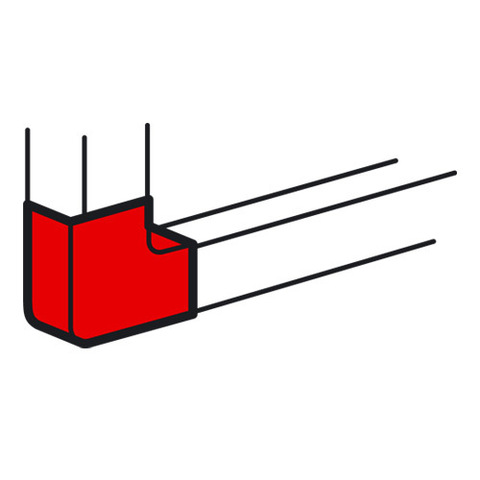 Кабель-канал 100x50 Неизменяемые углы 90° Внешний угол. Цвет Белый. Legrand Metra (Легранд Метра). 638013