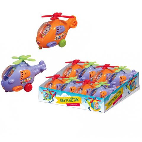 Мармелад в сах. глазури с игрушкой Вертолет 1кор*10бл*8шт, 5г.