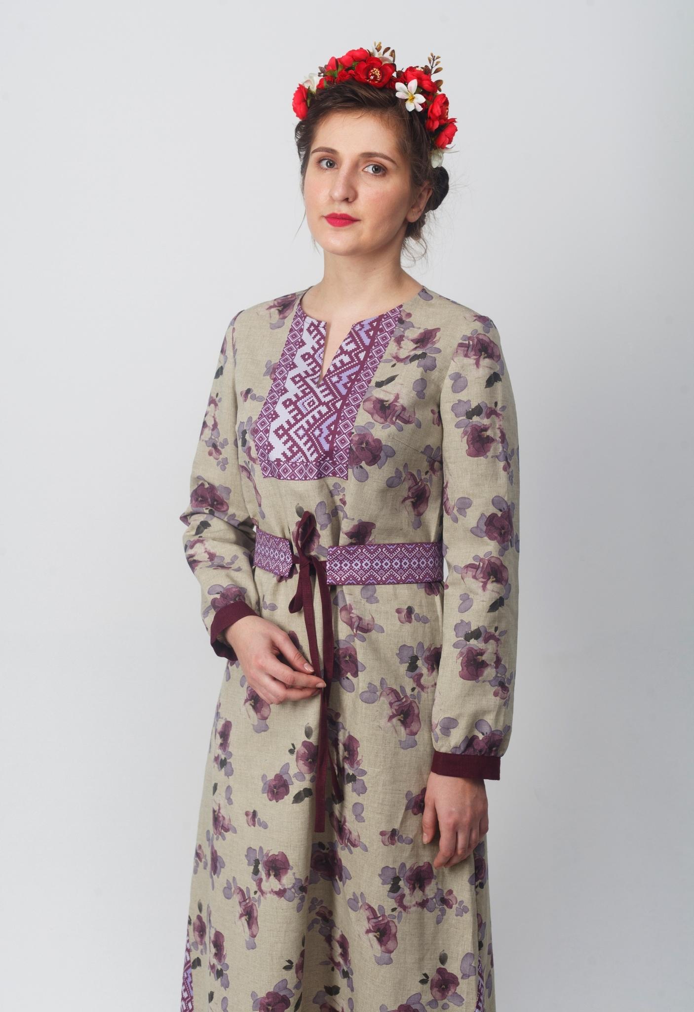 Платье Времена года Весна вид сбоку