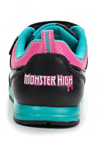 Кроссовки Монстер Хай (Monster High) на липучке для девочек, цвет черный. Изображение 3 из 8.
