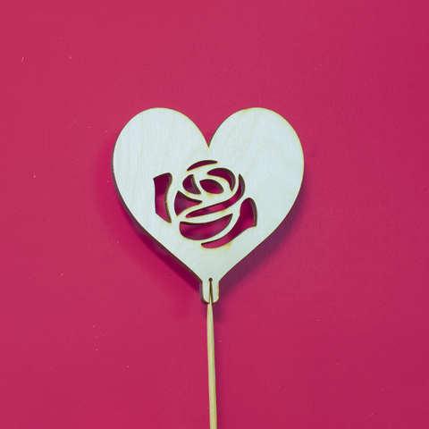 Топпер из дерева Роза