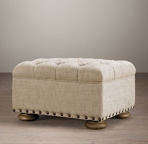 Churchill Ottoman With Nailheads