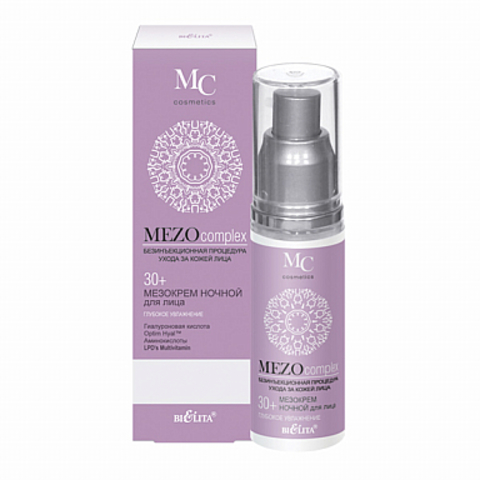 Белита MEZOcomplex МезоКРЕМ ночной для лица Глубокое увлажнение 30+  50мл