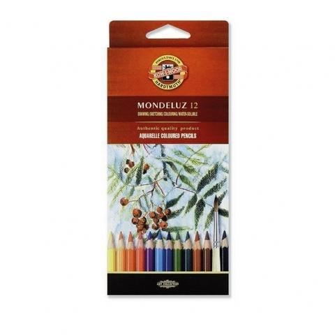 Набор акварельных цветных карандашей Koh-I-Noor 3716 Mondeluz в картонной коробке, 12 цветов