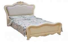 Кровать Милано (8801-A 200x160 c изножьем, без стяжек) Слоновая кость