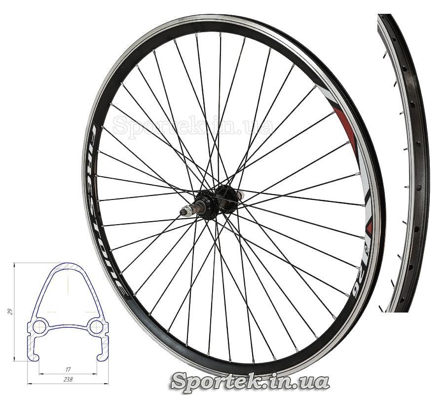 Заднее алюминиевое колесо 26 дюймов, 36 спиц для многоскоростного велосипеда