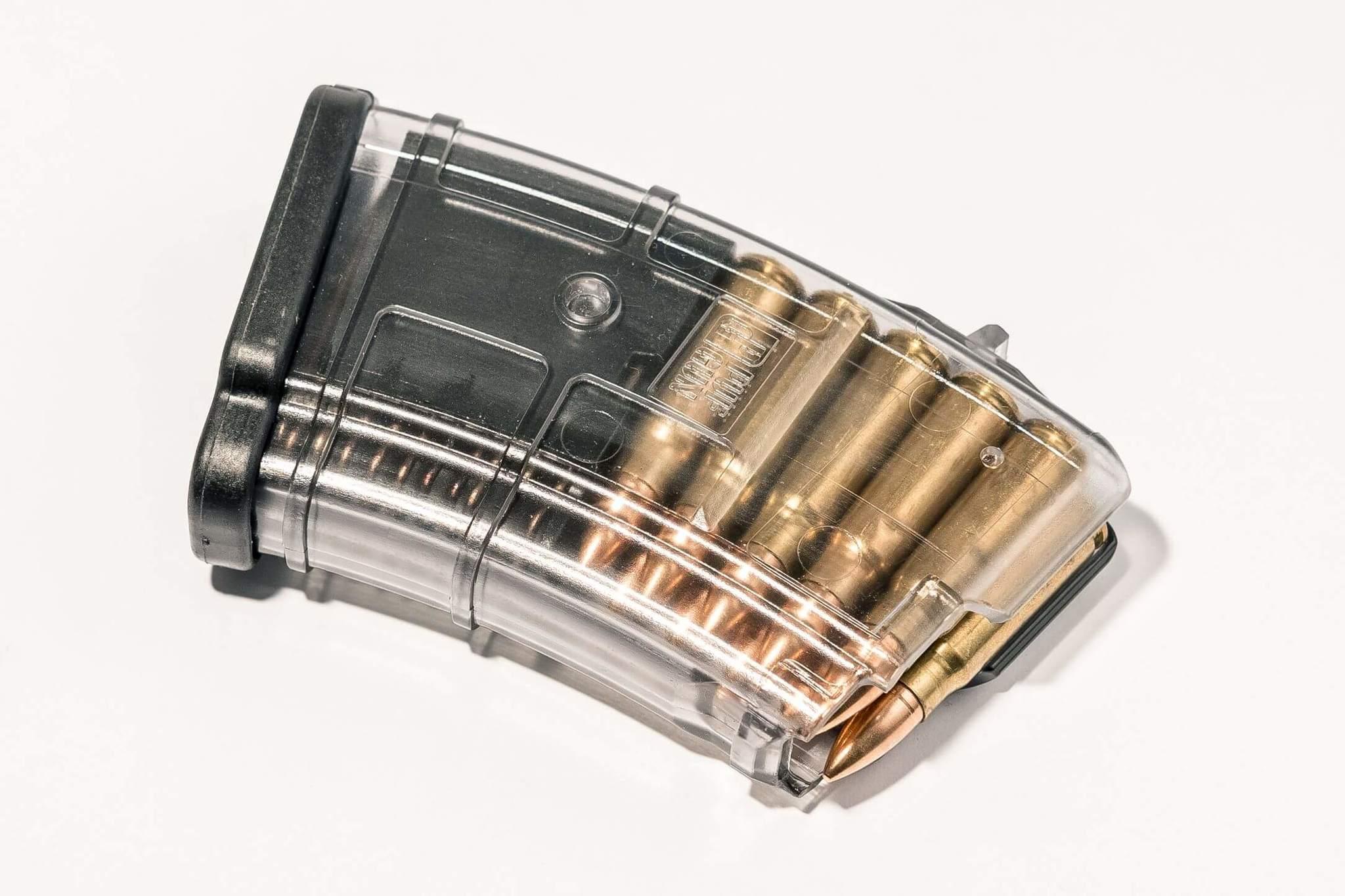 Магазин Pufgun для АКМ (7.62x39) ВПО-136 ВПО-209 на 10 патронов, прозрачный