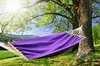 Гамак из льна с планкой  фиолетовый RG14F