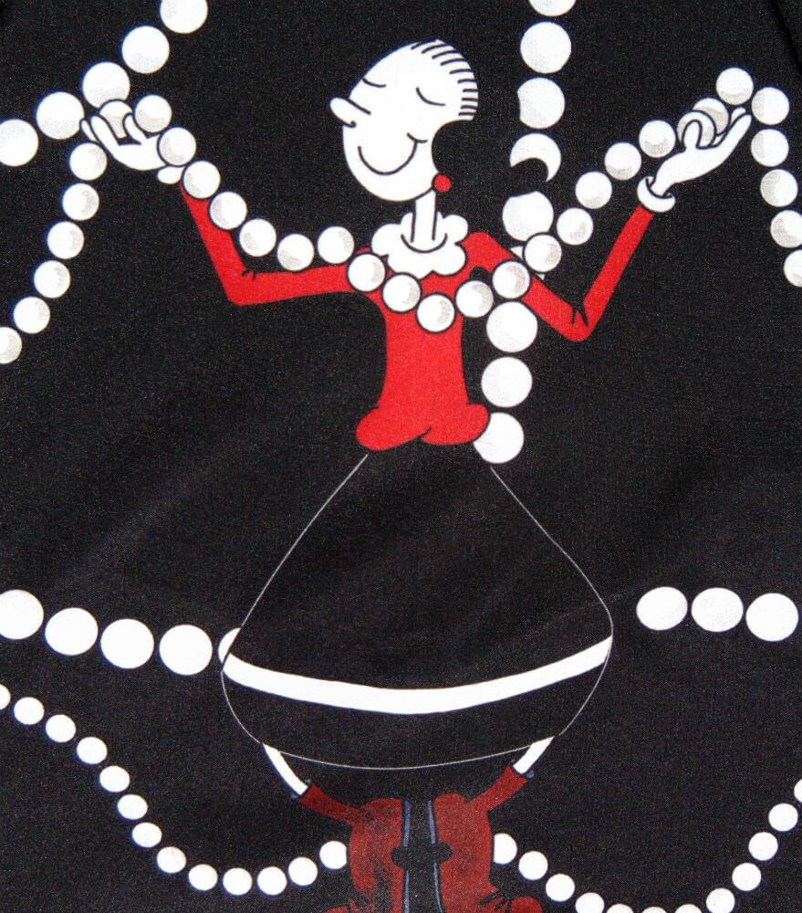 Зонт складной Moschino 7111-A Pearls