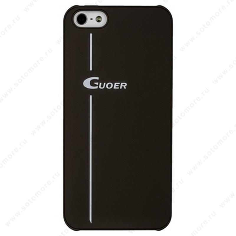 Накладка GUOER для iPhone SE/ 5s/ 5C/ 5 коричневая