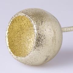 Стикер тыква золото с блестками 1001