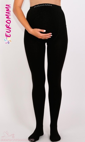 Евромама. Шерстяные колготки с махрой для беременных, 600 ден