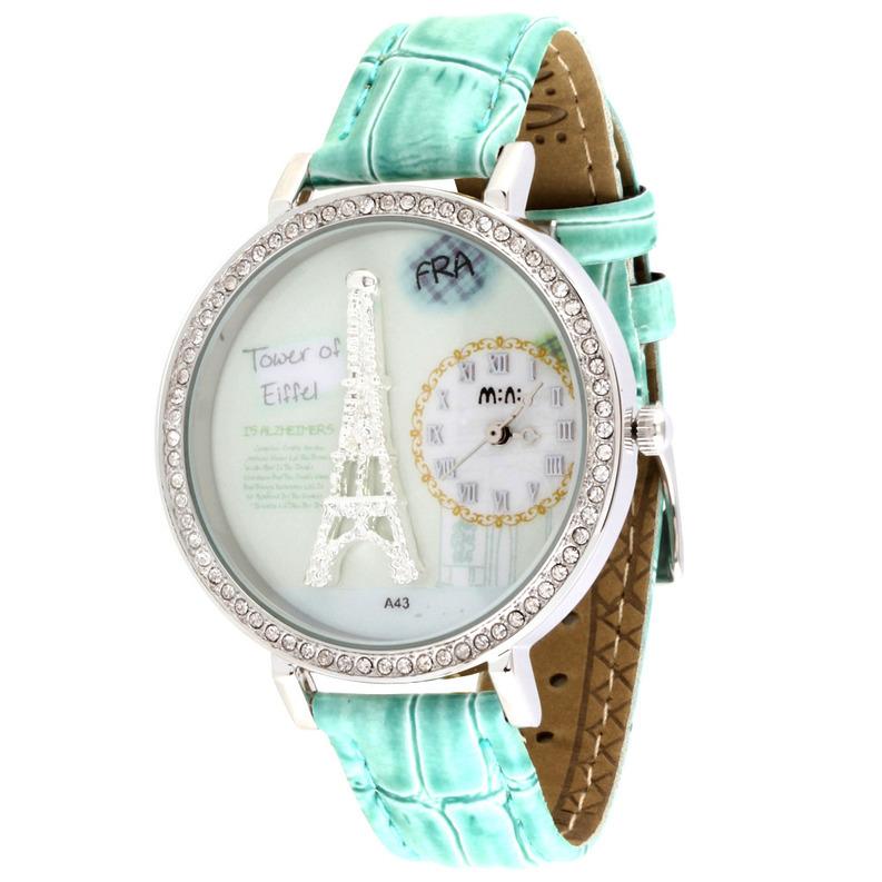 Дизайнерские часы Mini Watch MN8888green