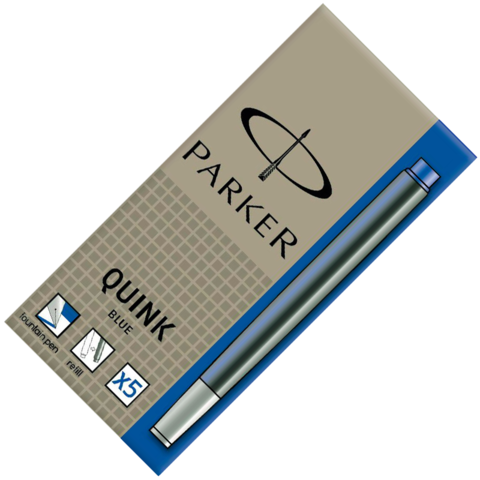 Parker Чернила (картридж), синий, 5 шт в упаковке