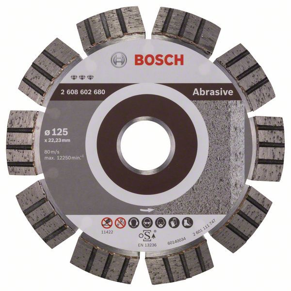 Алмазный диск Best for Abrasive 125-22,23 Bosch 2608602680