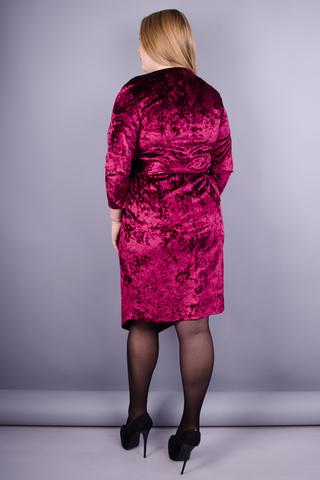 Рубін. Святкова сукня для жінок з пишними формами. Бордо.
