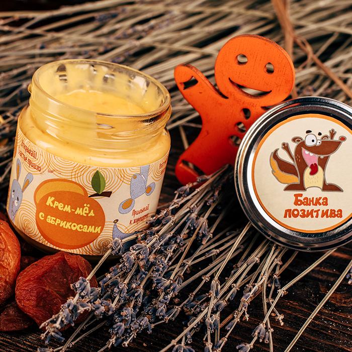 Купить крем-мед суфле в Перми БАНКА ПОЗИТИВА С АБРИКОСОМ