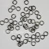 Комплект колечек одинарных 4х0,7 мм (цвет - черный никель), 10 гр (примерно 300 шт)