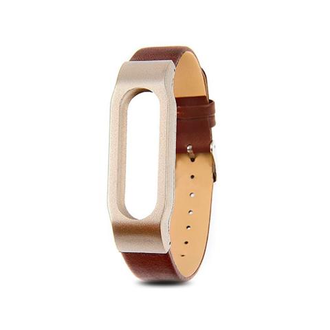 Сменный браслет Xiaomi Mi Band 3 кожаный (Коричневый)
