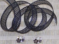 Лента-сеточка черная ширина 22 мм